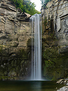 Evening view of Taughannock Falls at Taughannock Falls State Park, near Ithaca, New York, USA.