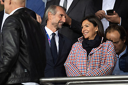 Director of PSG Jean-Claude Blanc and Mayor of Paris Anne Hidalgo attend the UEFA Champions League match between Paris Saint Germain and Real Madrid at Parc des Princes on September 18, 2019 in Paris, France<br /> Photo by David Niviere/ABACAPRESS.COM