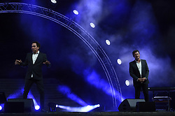 June 28, 2017 - Marseille, France - Les chevaliers du Fiel en representation au Festival d humour M Rire au theatre Silvain a Marseille. (Credit Image: © Panoramic via ZUMA Press)