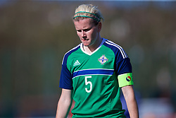 YSTRAD MYNACH, WALES - Wednesday, April 5, 2017: Northern Ireland's Julie Nelson in action during the Women's International Friendly match against Wales at Ystrad Mynach. (Pic by Laura Malkin/Propaganda)