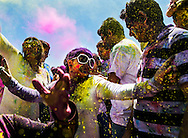 April 2, 2016 - Sachita Uprety (white sunglasses) of Germantown dances during the Holi 2016 - Festival of Colors event at the India Cultural Center and Temple in Eads, TN, Saturday to celebrate the arrival of spring in the Mid-South.