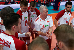23-09-2019 NED: EC Volleyball 2019 Poland - Germany, Apeldoorn<br /> 1/4 final EC Volleyball - Poland win 3-0 / Coach Vital Heynen of Poland