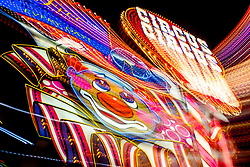 """""""Reno Lights 8"""" - The Grand Sierra Resort photographed in Reno, Nevada. The abstract effect was obtained in camera by long exposure mixed with intentional camera movement."""