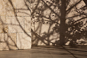 Shadows on Detail of travertine Getty Center, Los Angeles, Architect Richard Meier. Built 1997