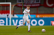 Leeds United defender Leif Davis (24)  during the The FA Cup match between Crawley Town and Leeds United at The People's Pension Stadium, Crawley, England on 10 January 2021.