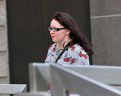 Pictured: Natalie McGarry arrives at Court.<br /> <br /> Former SNP MP Natalie McGarry appeared at Glasgow Sheriff Court at the start of her trial, where she is accused of embezzling almost £41,000 GBP from several independence campaign organisations.<br /> <br /> © Dave Johnston / EEm