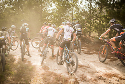Bottleneck on the trail during stage 1 of the 2017 Absa Cape Epic Mountain Bike stage race held from Hermanus High School in Hermanus, South Africa on the 20th March 2017<br /> <br /> Photo by Nick Muzik/Cape Epic/SPORTZPICS<br /> <br /> PLEASE ENSURE THE APPROPRIATE CREDIT IS GIVEN TO THE PHOTOGRAPHER AND SPORTZPICS ALONG WITH THE ABSA CAPE EPIC<br /> <br /> ace2016