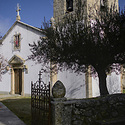 The small whihe church of Vila Chã de Braciosa, in Portugal's Mirandese Platau.