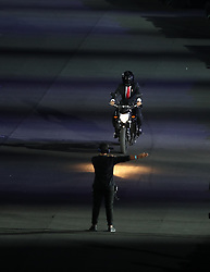 JAKARTA, Aug. 18, 2018  The opening ceremony of the 18th Asian Games is held at Gelora Bung Karno (GBK) Main Stadium in Jakarta, Indonesia, Aug. 18, 2018. (Credit Image: © Fei Maohua/Xinhua via ZUMA Wire)