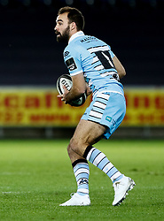 Nick Frisby of Glasgow Warriors<br /> <br /> 2nd November, Liberty Stadium , Swansea, Wales ; Guinness pro 14's Ospreys Rugby v Glasgow Warriors ;  <br /> <br /> Credit: Simon King/News Images<br /> <br /> Photographer Simon King/Replay Images<br /> <br /> Guinness PRO14 Round 8 - Ospreys v Glasgow Warriors - Friday 2nd November 2018 - Liberty Stadium - Swansea<br /> <br /> World Copyright © Replay Images . All rights reserved. info@replayimages.co.uk - http://replayimages.co.uk
