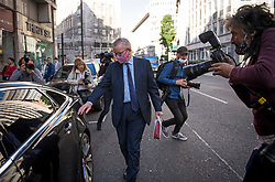 © Licensed to London News Pictures. 10/09/2020. London, UK. Chancellor of the Duchy of Lancaster MICHAEL GOVE MP is seen leave a brach of Pret A Manger in Westminster on the day of a new round of negotiations between the UK Government and the EU. British Prime Minister Boris Johnson has threatened to overwrite parts of the EU withdrawal agreement signed with Brussels last October. Photo credit: Ben Cawthra/LNP