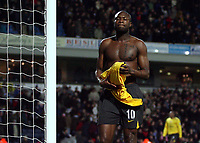 Photo: Paul Thomas.<br /> Blackburn Rovers v Arsenal. The FA Cup. 28/02/2007.<br /> <br /> A dejected William Gallas of Arsenal takes off his shirt a throws it into the stand in frustration.