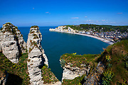 Wide view of ]Etretat, Normandy, France