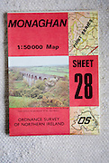 Discoverer series 1:50,000 ordnance survey map of Monaghan, Northern Ireland sheet 28