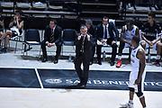 DESCRIZIONE : Bologna Lega A 2015-16 Obiettivo Lavoro Virtus Bologna - Umana Reyer Venezia<br /> GIOCATORE : Giorgio Valli<br /> CATEGORIA : Allenatore Coach<br /> SQUADRA : Obiettivo Lavoro Virtus Bologna<br /> EVENTO : Campionato Lega A 2015-2016<br /> GARA : Obiettivo Lavoro Virtus Bologna - Umana Reyer Venezia<br /> DATA : 04/10/2015<br /> SPORT : Pallacanestro<br /> AUTORE : Agenzia Ciamillo-Castoria/G.Ciamillo<br /> <br /> Galleria : Lega Basket A 2015-2016 <br /> Fotonotizia: Bologna Lega A 2015-16 Obiettivo Lavoro Virtus Bologna - Umana Reyer Venezia