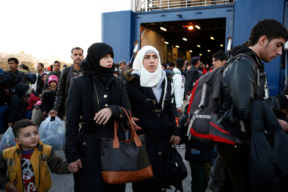 Migrants and refugees arrive in Piraeus, Greece<br /> Photo: Darrin Zammit Lupi