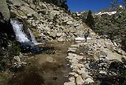 Aigüestortes i Estany de Sant Maurici National Park, Catalonia, Spain Hikers in the park