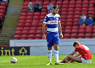 Charlie Austin of Queens Park Rangers scores the opening goal against Barnsley during the Sky Bet Championship match at Oakwell, Barnsley<br /> Picture by Graham Crowther/Focus Images Ltd +44 7763 140036<br /> 03/05/2014
