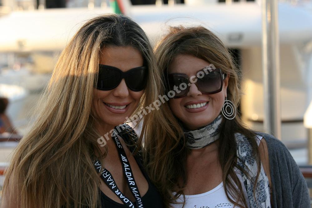 Beautiful Arab women at the harbor in Yas Marina before the 2010 Abu Dhabi Grand Prix at the Yas Marina Circuit. Photo: Grand Prix Photo