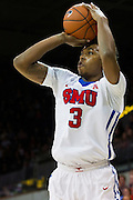DALLAS, TX - NOVEMBER 25: Sterling Brown #3 of the SMU Mustangs shoots the ball against the Arkansas Razorbacks on November 25, 2014 at Moody Coliseum in Dallas, Texas.  (Photo by Cooper Neill/Getty Images) *** Local Caption *** Sterling Brown