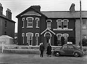 01/02/1957<br /> 02/01/1957<br /> 01 February 1957<br /> View of Seaview House in Youghal, Co. Cork.  Renault 4CV car