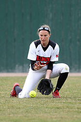 06 April 2013:  Lauren Kellar during an NCAA Division 1 Missouri Valley Conference (MVC) women's softball game between the Drake Bulldogs and the Illinois State Redbirds on Marian Kneer Field in Normal IL