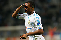 FOOTBALL - FRENCH LEAGUE CUP 2011/2012 - 1/8 FINAL - OLYMPIQUE MARSEILLE v RC LENS - 25/10/2011 - PHOTO PHILIPPE LAURENSON / DPPI -  JORDAN AYEW (OM) JOY AFTER GOAL