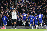 GOAL CELEBRATION - Chelsea's John Terry celebrates scoring his sides equalising goal to make the score 3-3 in the final play of the match<br /> <br /> Photographer Craig Mercer/CameraSport<br /> <br /> Football - Barclays Premiership - Chelsea v Everton - Saturday 16th January 2016 - Stamford Bridge - London<br /> <br /> © CameraSport - 43 Linden Ave. Countesthorpe. Leicester. England. LE8 5PG - Tel: +44 (0) 116 277 4147 - admin@camerasport.com - www.camerasport.com