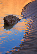 Reflection in the Colorado River at the side canyon called National Canyon