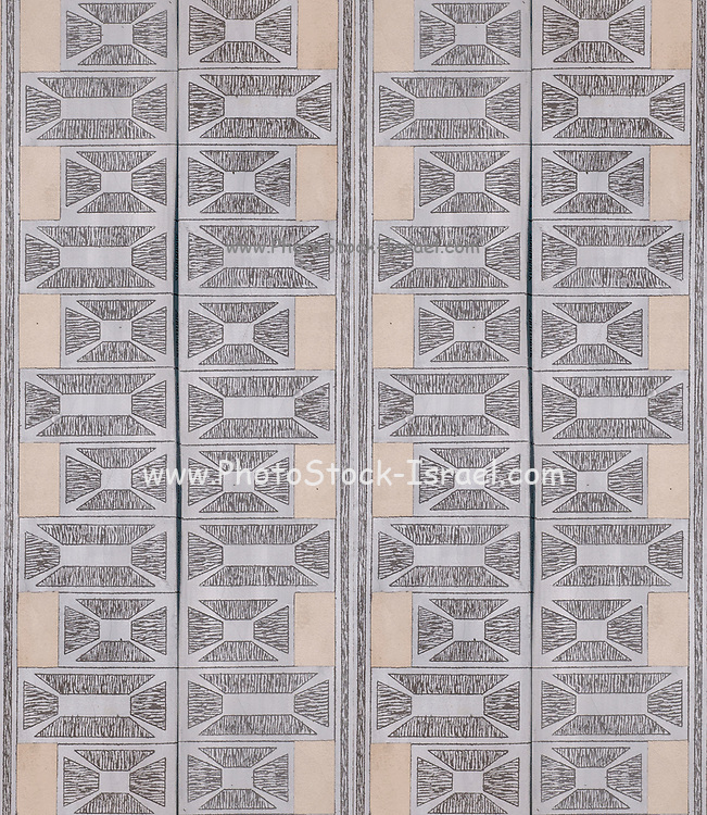 Intricate wall decoration repeating design