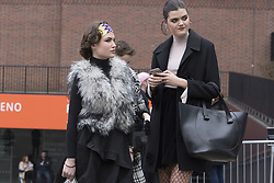 Fashionistas arrive at the Fashion East Autumn / Winter 2017 London Fashion Week show at Tate Modern, London on Saturday February 18, 2017