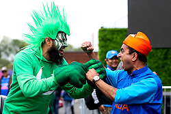 Pakistan and India fans during the Cricket World Cup 2019 - Mandatory by-line: Robbie Stephenson/JMP - 16/06/2019 - CRICKET- Old Trafford - Manchester, England - India v Pakistan - ICC Cricket World Cup 2019 group stage