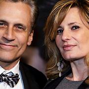 NLD/Amsterdam/20150211 - Premiere Fifty Shades of Grey, Robert Schoemacher en partner Claudia van Zweden