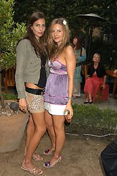 Left to right, sisters ZARA SIMON and JESSICA SIMON at the Tatler Summer Party in association with Moschino at Home House, 20 Portman Square, London W1 on 29th June 2005.<br />