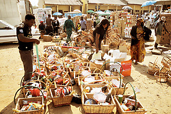 Dec. 23, 2009 - LAGOS, Nigeria - (091224) -- LAGOS, Dec. 24, 2009 (Xinhua) -- Nigerians purchase food baskets ahead of Christmas at a market in Abuja, Nigeria, Dec. 23. 2009.   (Xinhua/News Agency of Nigeria) (Credit Image: © Xinhua via ZUMA Wire)