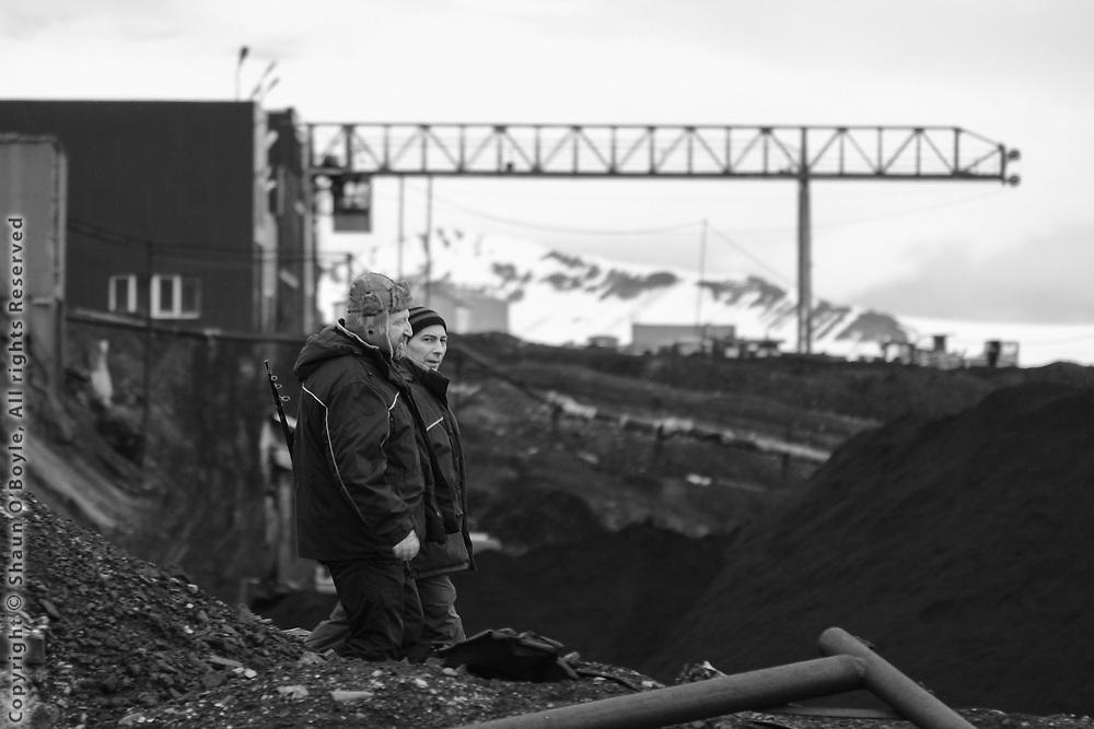 Russian Coal Mining Settlement of Barentsburg, Spitsbergen, Norway