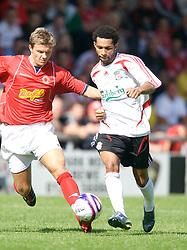 Crewe, England - Saturday, July 14, 2007: Liverpool's Jermaine Pennant in action against Crewe Alexandra during a pre-season friendly at Gresty Road. (Photo by David Rawcliffe/Propaganda)
