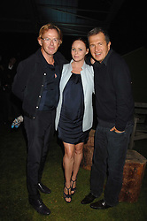 Left to right, DAVID COLLINS, STELLA McCARTNEY and MARIO TESTINO at a party to celebryate the launch of the Spring Summer 2008 adidas collection by Stella McCartney held at the Westway Sports Centre, off Latimer Road, London W10 on 20th September 2007.<br /><br />NON EXCLUSIVE - WORLD RIGHTS