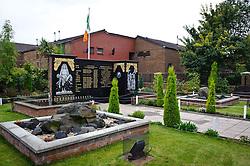 Republican memorial garden in the Falls Road, Belfast, Northern Ireland<br /> <br /> (c) Andrew Wilson | Edinburgh Elite media
