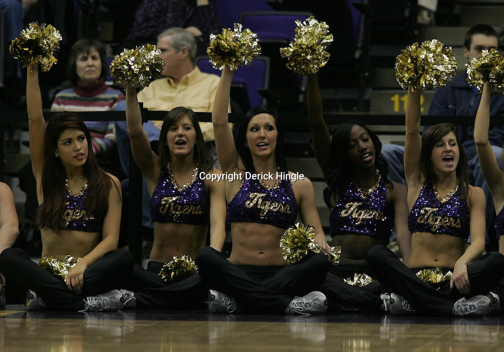 Jan 04, 2010; Baton Rouge, LA, USA;  The LSU Tiger Girls perform during a game against the McNeese State Cowboys at the Pete Maravich Assembly Center. LSU defeated McNeese State 83-60.  Mandatory Credit: Derick E. Hingle-US PRESSWIRE