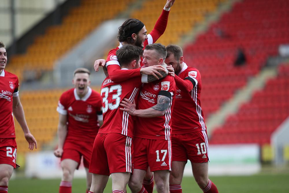 PERTH, SCOTLAND, APRIL 2021: St Johnstone FC V Aberdeen FC Ladbrokes SPFL Premiership fixture at McDiarmid Park, Perth. <br /> <br /> <br /> <br /> <br /> (Photo: Ross Johnston/Newsline Media)
