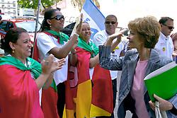 A candidata ao governo do Estado do RS Yeda Crusius encontra com simpatizantes antes do debate da AGERT. FOTO: Jefferson Bernardes/Preview.com