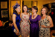 Fiona Whiriskey, Ardrahan, Niamh Whiriskey Rio de Janerio, Melanie McDonagh, Dublin and Audrey O'Neill, Galway at Hotel Meyrick in Eyre Sq. Galway for their best dressed Lady Competition during Galway's Race week . Photo:Andrew Downes