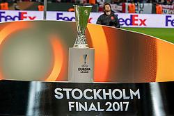 24-05-2017 SWE: Final Europa League AFC Ajax - Manchester United, Stockholm<br /> Finale Europa League tussen Ajax en Manchester United in het Friends Arena te Stockholm / Europa Cup Trophy beker