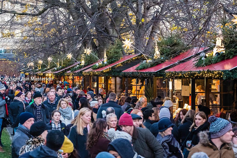 Edinburgh, Scotland, United Kingdom. 18 November, 2017. Opening day of Edinburgh's popular and beautiful Christmas market and funfair in Princes Street Gardens.