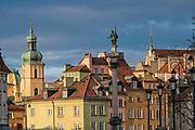 Krakowskie Przedmieście i Plac Zamkowy w Warszawie, Polska<br /> Krakowskie Przedmieście and the Castle Square in Warsaw, Poland