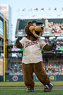 Minnesota Twins mascot TC busts a move before a game against the Chicago White Sox on June 19, 2013 at Target Field in Minneapolis, Minnesota.  The Twins defeated the White Sox 7 to 4.  Photo: Ben Krause