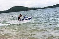 Tourist enjoying jetski in Nha Trang, Vietnam, Southeast Asia