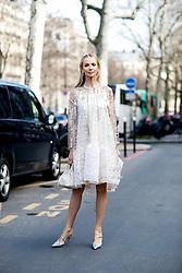Street style, Tatiana Korsakova arriving at Giambattista Valli Fall-Winter 2018-2019 show held at Palais de Tokyo, in Paris, France, on March 5th, 2018. Photo by Marie-Paola Bertrand-Hillion/ABACAPRESS.COM