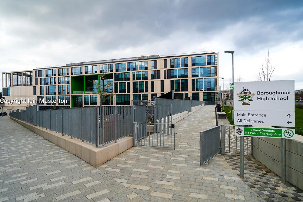 Exterior of new Boroughmuir High School in Edinburgh,Scotland, UK